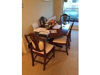 Mahogany Dining Table & 6 Mathcing Chairs