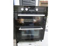 ***BaRgAiN***HOTPOINT DOUBLE BLACK INTEGRATED OVEN/VERY CLEAN/WORKING IN TOP ORDER/GREAT CONDITION/