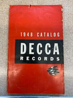 1948 DECCA RECORDS CATALOG