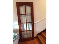OAK glazed door with chrome colour handle