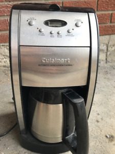 Stainless steel Cuisinart coffee maker with grinder