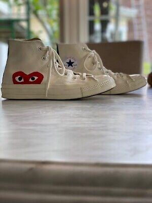 Converse Comme des Garçons PLAY Chuck 70 High Sneakers Off White