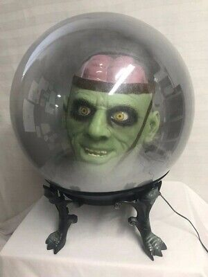 Gemmy Spirit Ball Frankenstein Original Box Life Size Head