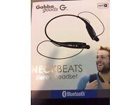 Gabba Goods Neckbeats bluetooth stereo headset