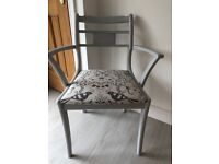 Grey up cycled bedroom carver chair