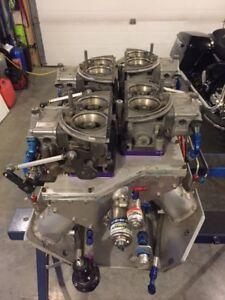 """BBC 5"""" bore space (784 c.i.) intake, heads, etc. Reduced!"""