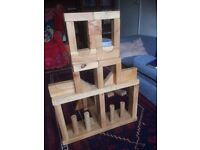 Childs wooden building blocks. Hardwood aromatic timber, for all ages.