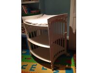 STOKKE Wooden height adjustable changing table with ample storage + accessories