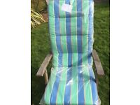 2 cushions for high back garden chairs