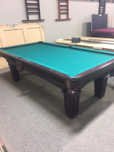8' Used Brunswick pool table-Cherry Stain