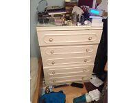 Beautiful cream chest of drawers