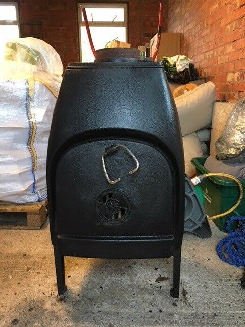 Black Cast Iron Wood Burner Stove Jotul No 1 Classic