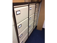 Four draw metal filing cabinets for sale