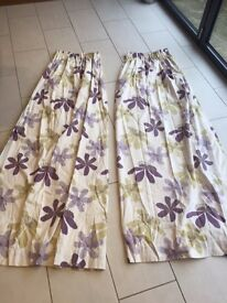 Pair John Lewis Curtains - 1.8m drop