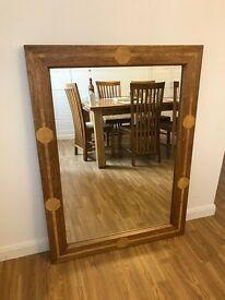 Large Solid Applewood Framed Mirror
