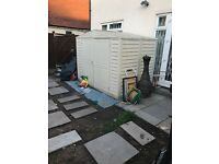 Skylight plastic shed 8 x 4 shed