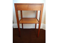 1972 Vintage Remploy bedside table with drawer, good condition.