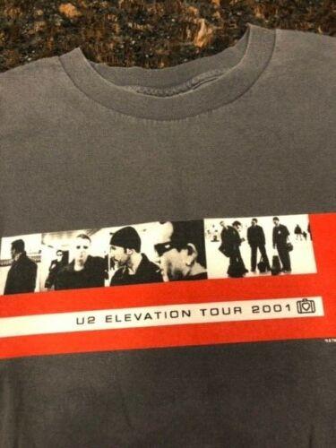 U2 2001 ELEVATION AUTHENTIC CONCERT TOUR TEE SHIRT VINTAGE AND RARE - XL