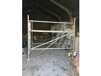 2 no aluminium scaffold towers