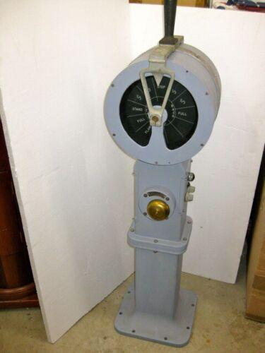 Vintage, Rare US Navy Aluminum Electric Bridge Telegraph (EOT)