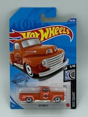 HOT WHEELS 2020 HW ROD SQUAD '49 FORD F1 TRUCK ORANGE CASE