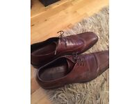 Hugo Boss Size 9 Brown Leather Shoes- £249 RRP