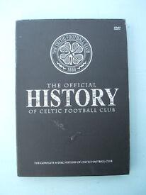 Official History Of Celtic Football Club 4disc DVD Boxset Scotland