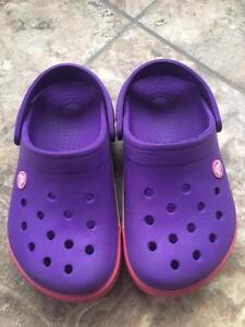 Girl's Croc shoes, size J 2, Excellent Condition