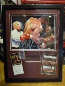 BOXING AUTOGRAPHS- SHAVERS, TYSON, TONEY, LAMOTTA