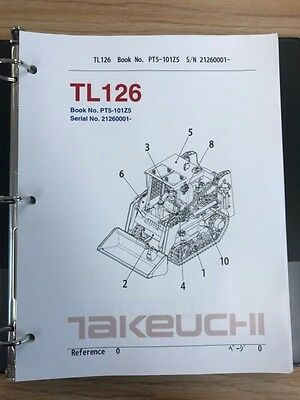 Takeuchi Tl126 Crawler Loader Parts Manual Sn 21260001 And Up