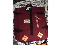 BARGAIN POLER Retro Rolltop Bags Red - Brand New with Tags