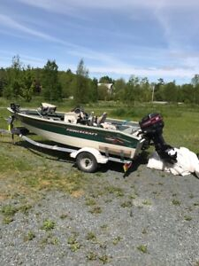 1998 16 foot Princecraft fishing boat for sale