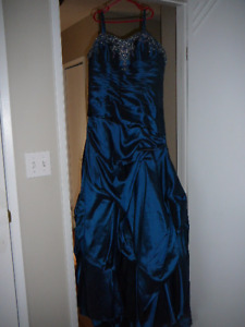 Blue grad dress.  Size 16