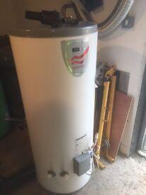 Megaflo 170Litre Pressurised Hot Water Cylinder complete with pressure reducing valve.