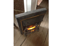 Inset electric heater type viscount