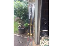 Rossignol Open 90 Skis. With Bindings. 170cm. Excellent Condition. £40.