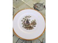 Set of Staffordshire Bone China Birds of the Fields and Moorland collection