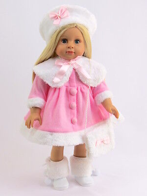 Pink and White Fur Dress Fits 18