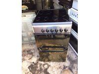 £96.00 Indesit black ceramic electric cooker+50cm+3 months warrantyn for £96.00