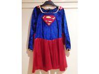 Supergirl Fancy Dress Costume - Medium Size 5-7 Years