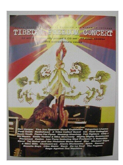 Tibetan Freedom Concert Poster Tibet Ben Harper Beck