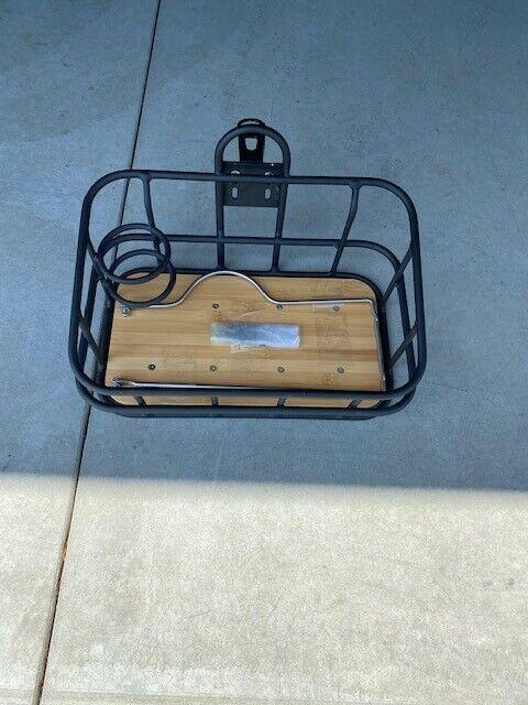 Blix Front Basket Black $45.00