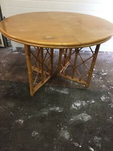 Table with bamboo base