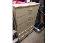 Wooden chest pull out draw