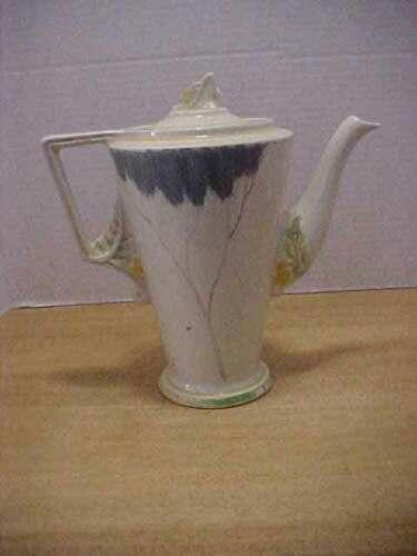 Burleigh Ware England Art Deco Lemon Tree? Tea Coffee Pot Free Ship