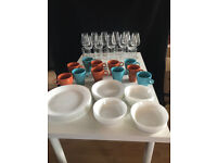Kitchenware and dinner set for 12 - new