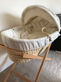 Neutral/cream once upon a time Moses basket