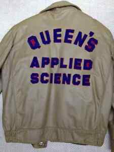 Queen's Vintage Leather Engineering Jacket, mint condition Kingston Kingston Area image 2