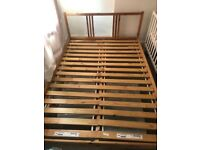Ikea Wooden Double Bed Frame Good Condition Delivery Possible
