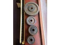Weider & York 10lb, 3lb, 1.25kg, 0.5kg Dumbbell weights for 1 inch bar - bargain!